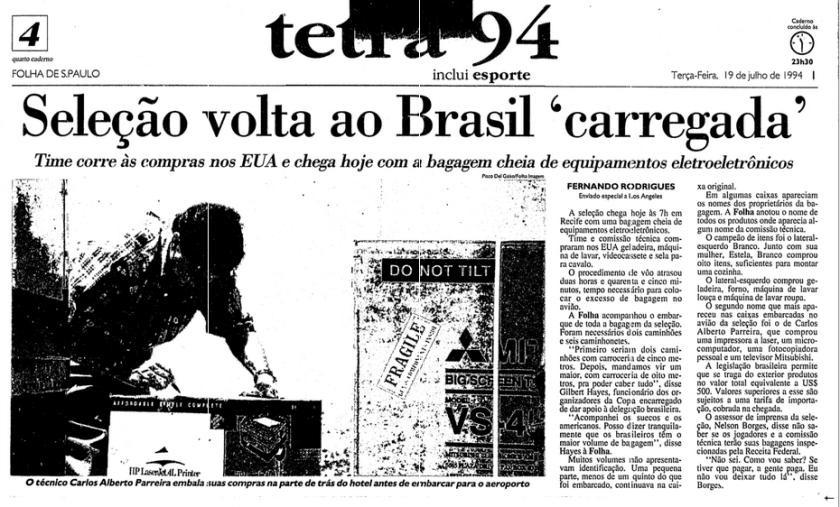 """Capa da Folha de S.Paulo mostrou com exclusividade o episódio do """"voo da muamba"""""""
