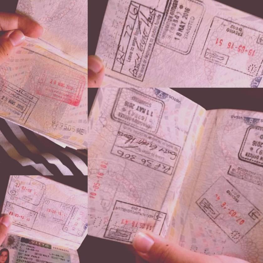 carimbos no passaporte Ana Beatriz Frozoni Instagram