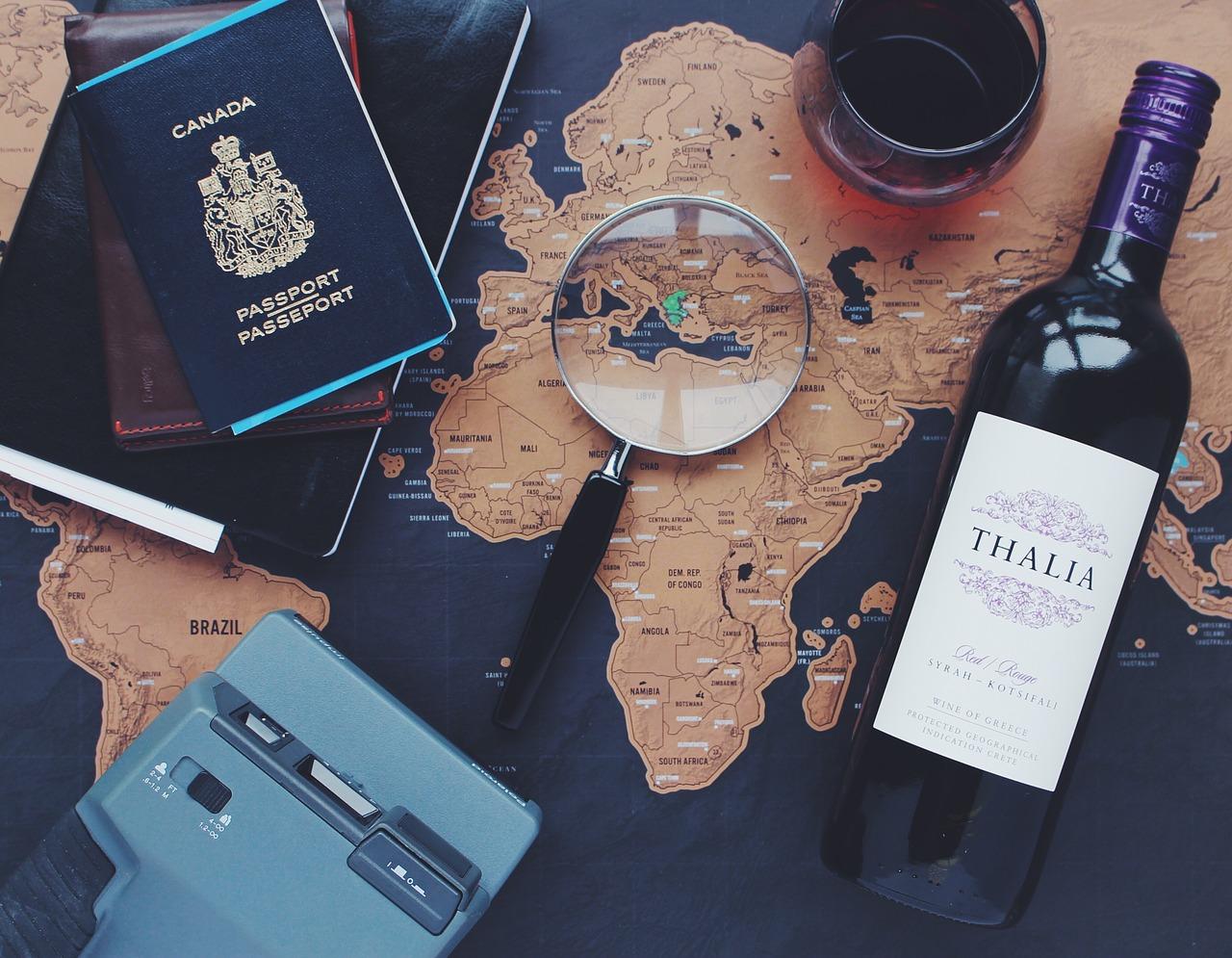 Mapa Mundi e viagens pixabay