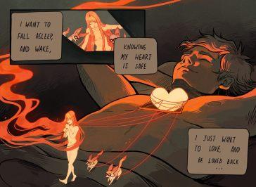 Quadrinho da série Icarus and the Sun, criado por Gabriel Picolo e escrito em inglês para que mais pessoas possam entender